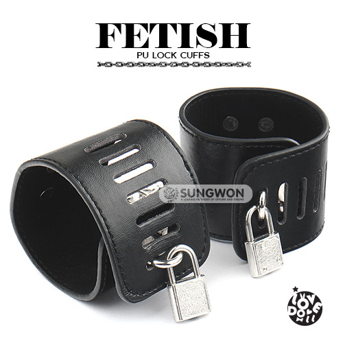 자물쇠 수갑 (블랙) (22)   FETISH