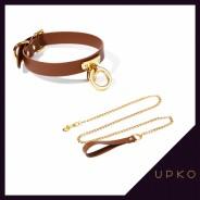 업코 가죽 코스프레 초커&목줄 | UPKO